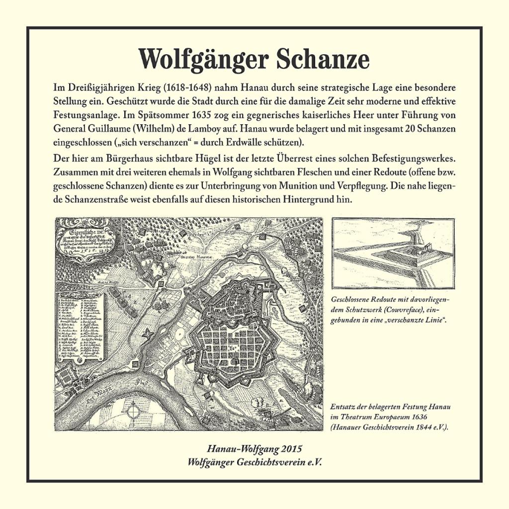 Gedenktafel Wolfgänger Schanze